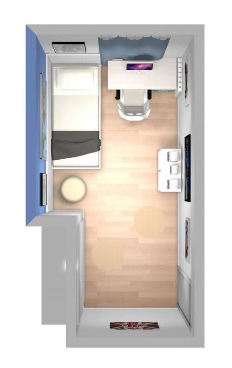 Mueble 3 Decoración Dormitorio Juvenil REF-012