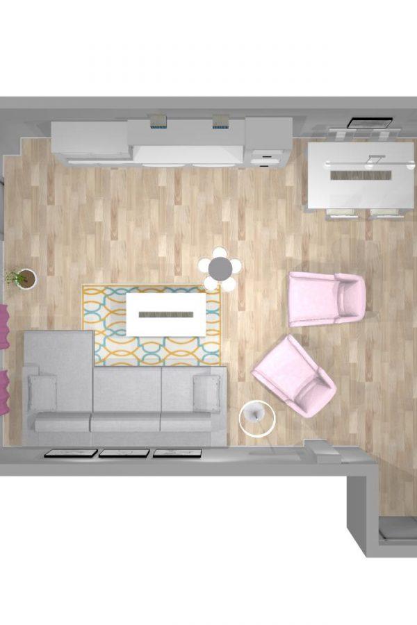 Mueble 3 Decoración Salón REF-006