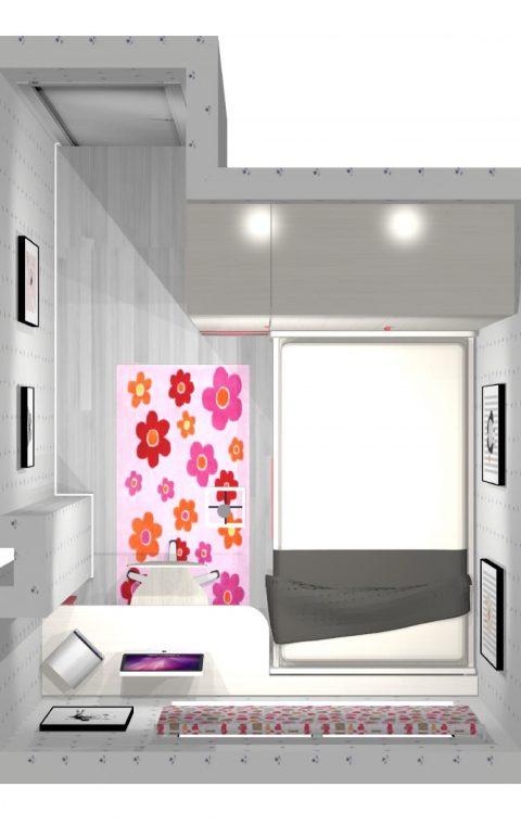 Mueble 3 Decoración Dormitorio Juvenil REF-014