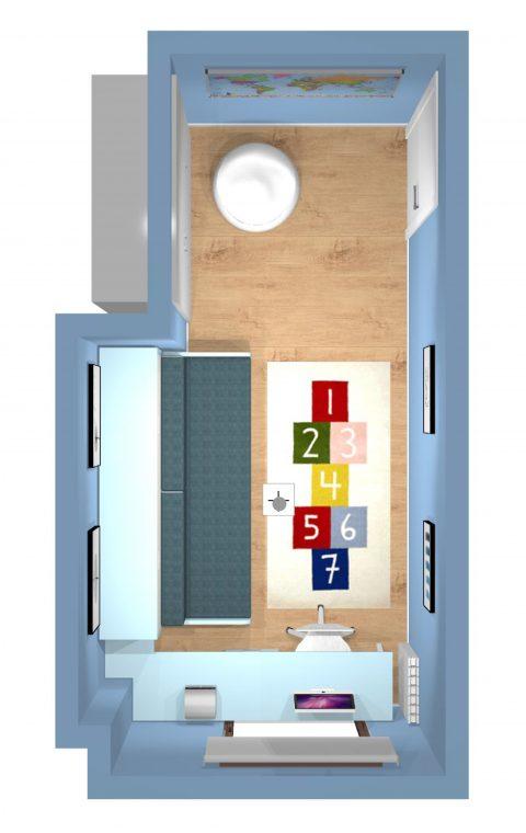 Mueble 3 Decoración Dormitorio Juvenil REF-015