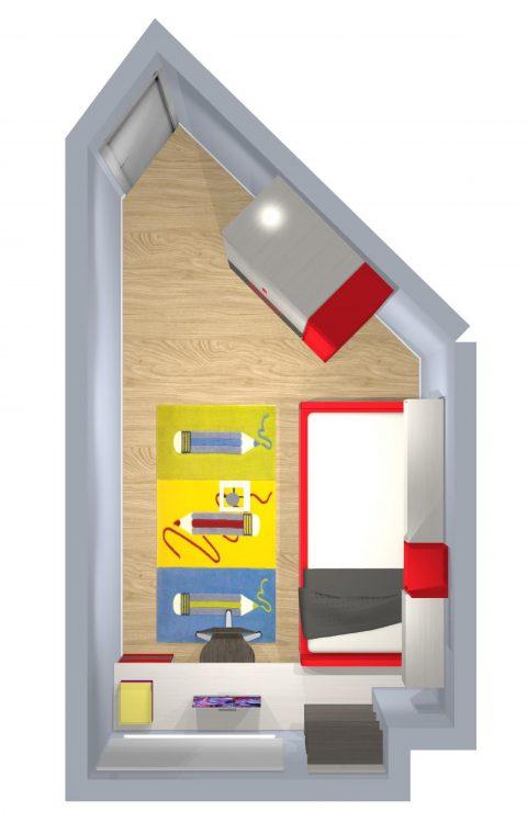 Mueble 3 Decoración Dormitorio Juvenil REF-016