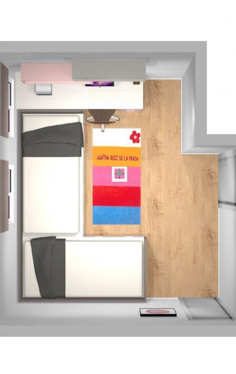 Mueble 3 Decoración Dormitorio Juvenil REF-017