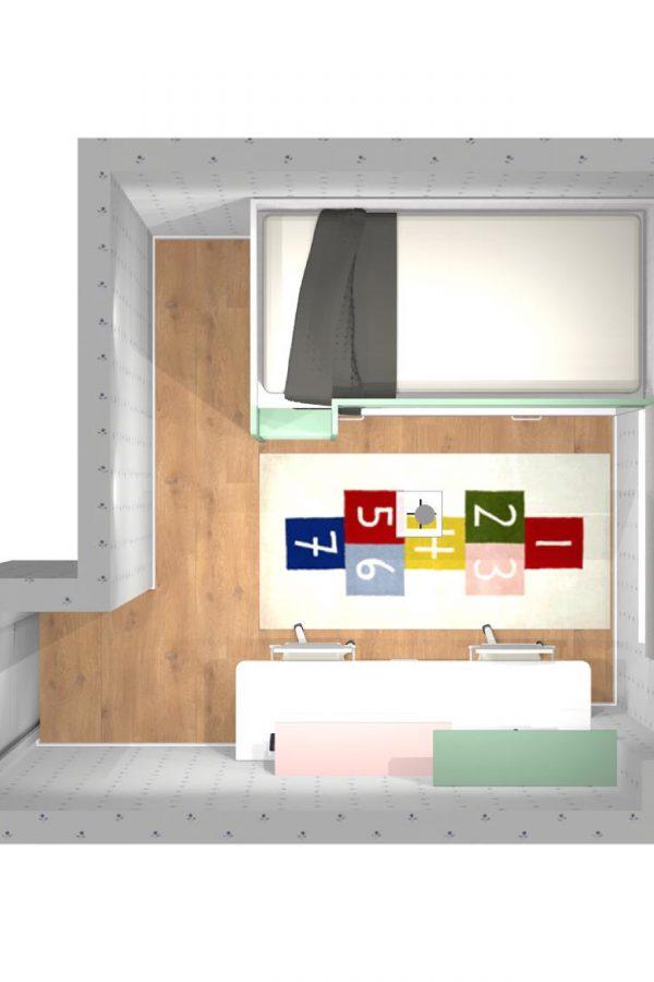 Mueble 3 Decoración Dormitorio Juvenil REF-018