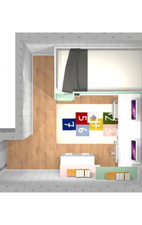 Mueble 3 Decoración Dormitorio Juvenil REF-019