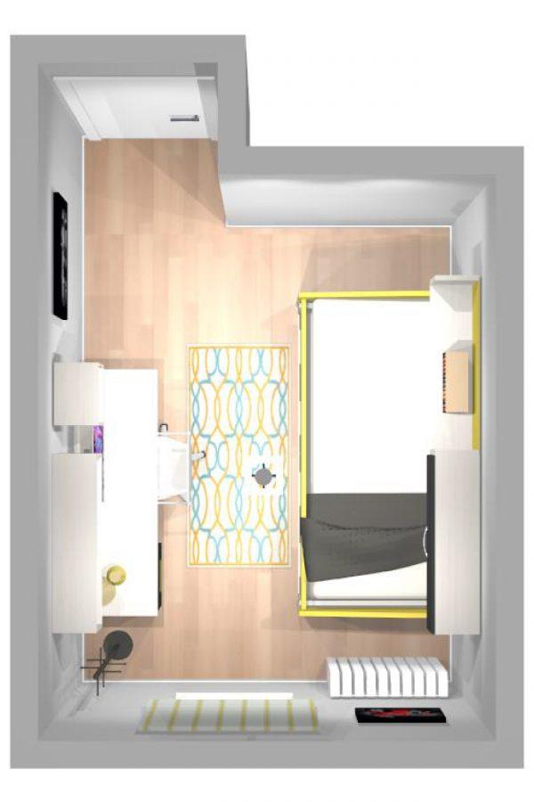 Mueble 3 Decoración Dormitorio Juvenil REF-020