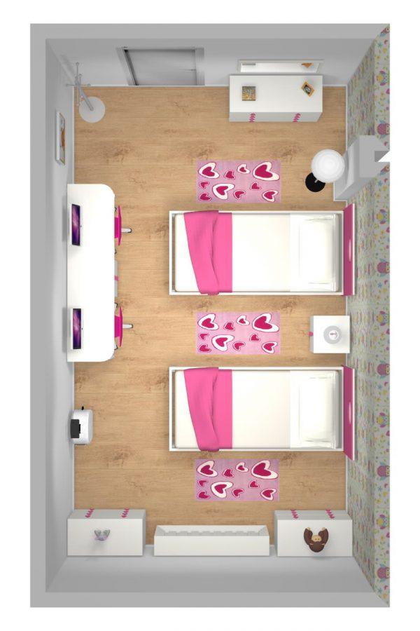 Mueble 3 Decoración Dormitorio Juvenil REF-021