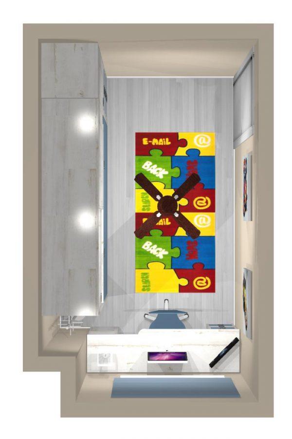 Mueble 3 Decoración Dormitorio Juvenil REF-022