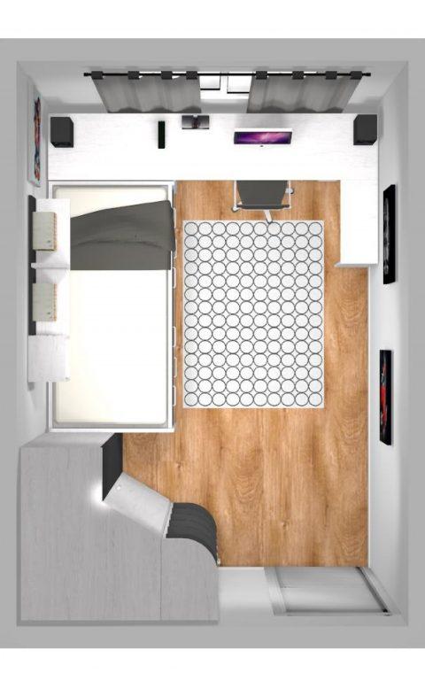 Mueble 3 Decoración Dormitorio Juvenil REF-023