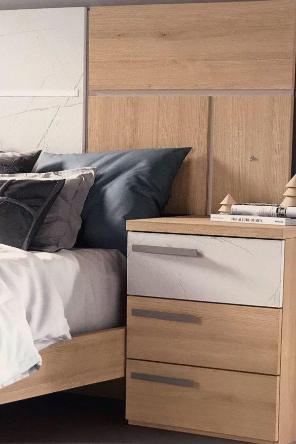 Dormitorio cabecero y 2 mesitas REF-160