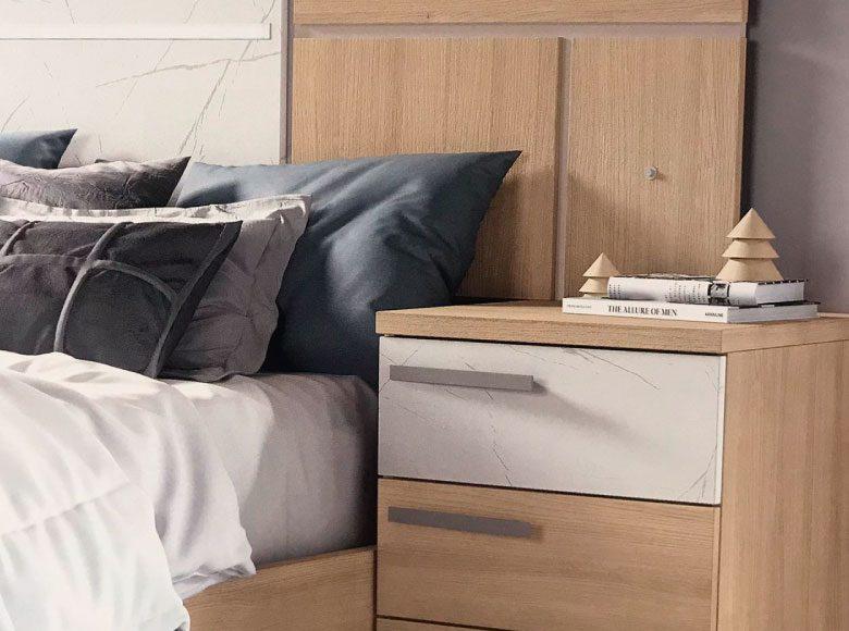Dormitorio cabecero y 2 mesitas